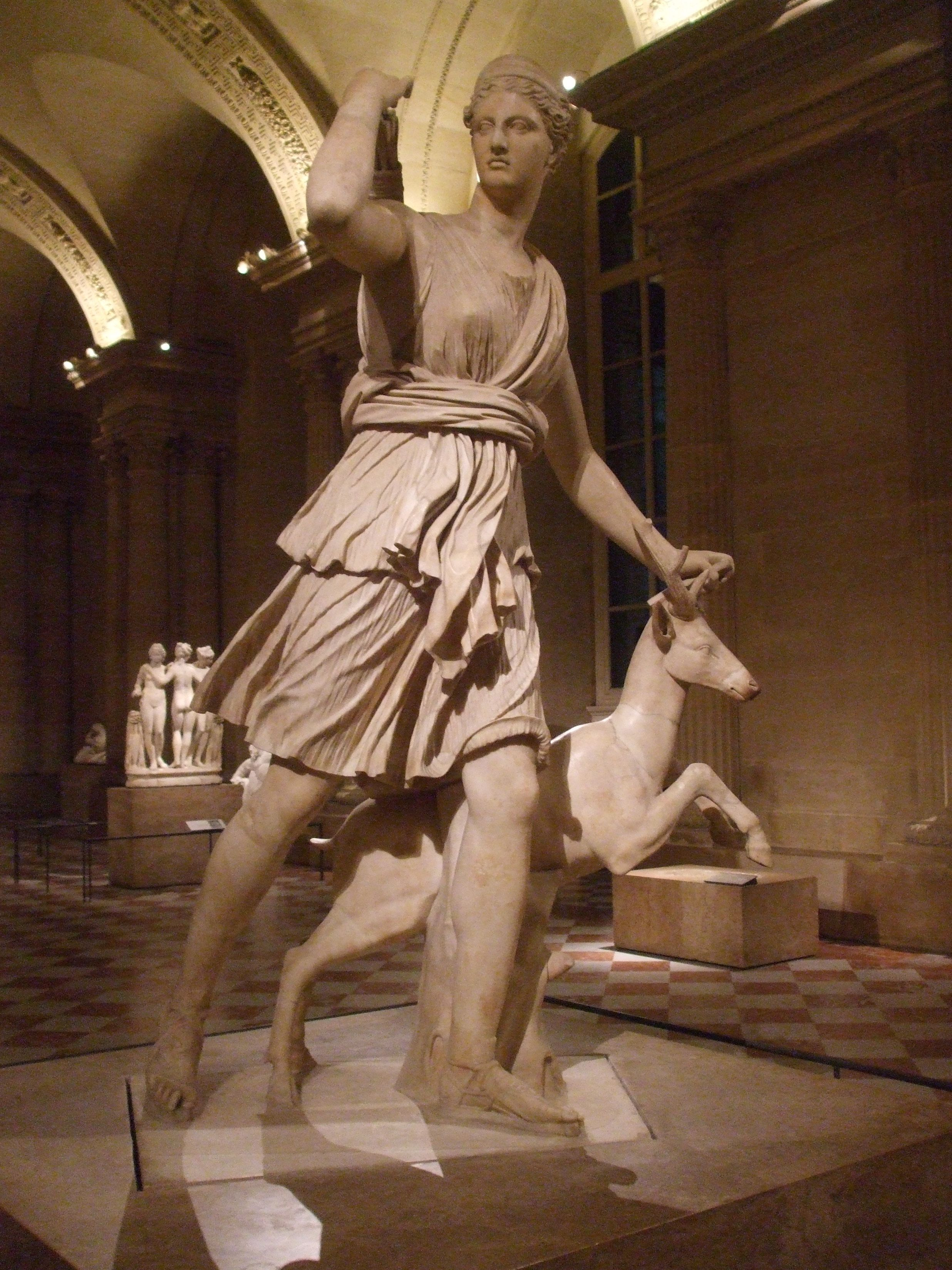 Diana of Versailles. Artemis and Athena were always my favourites among the Greek gods and goddesses. A replica can be found in the Chateau de Versailles.