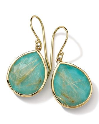 18k Gold Rock Candy Teardrop Lollipop Earrings, Quartz/Turquoise by Ippolita at Bergdorf Goodman.