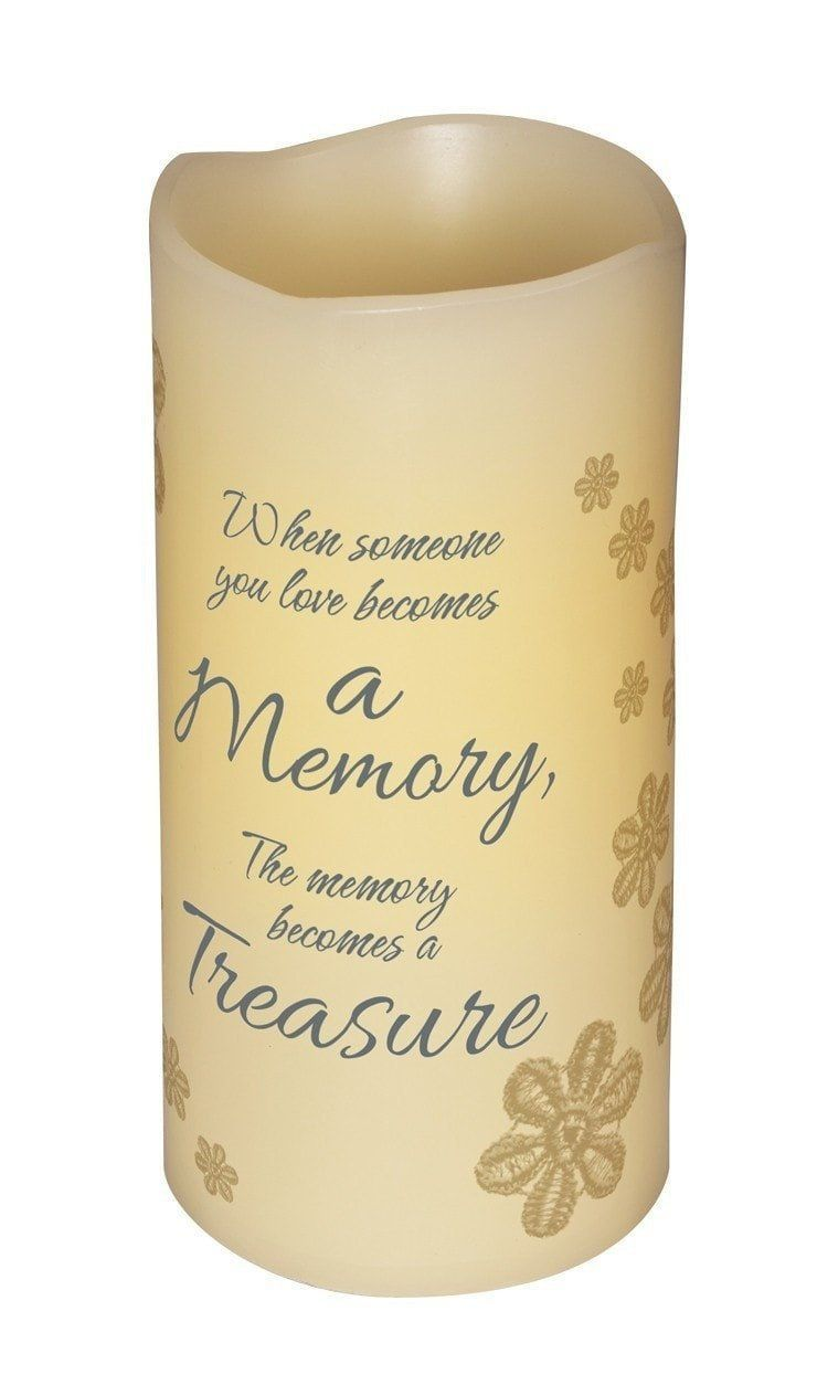 Abiding light led candle vanilla scented a memory becomes a