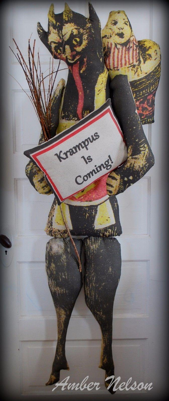 Antique German Santa Claus Krampus Bad naughty Christmas ...