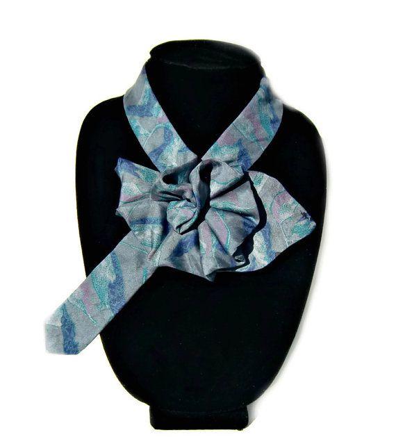 e3f57e239961 Ladies Necktie Scarf, Necktie Necklace, Up-cycled Mondo Uomo Necktie,  Woman's Accessory