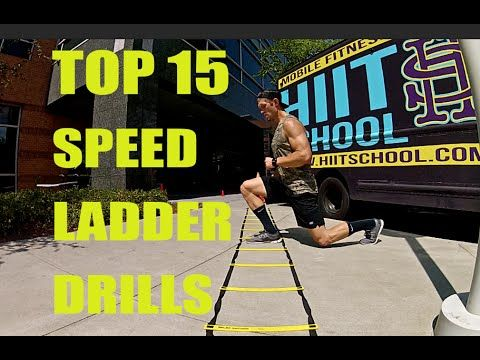 Speed Ladder | 15 Drills for Speed, Quickness, Agility | HIIT School #agilityworkouts
