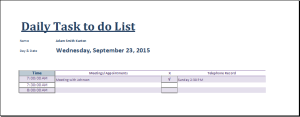 Daily Task To Do List At WordDocumentsCom  Microsoft Templates