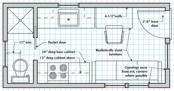How To Draw A Tiny House Floor Plan Tiny House Floor Plans House Floor Plans Cool House Designs