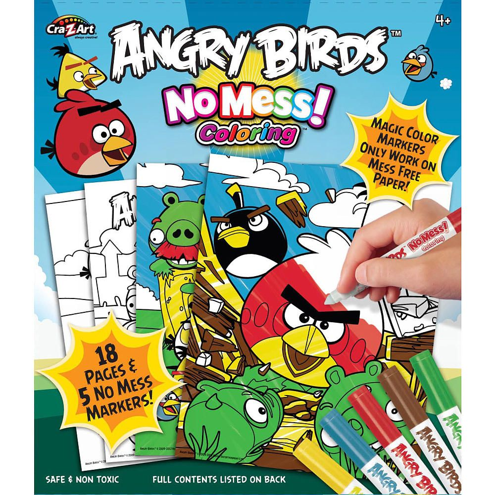 Cra Z Art No Mess Coloring Book Angry Birds Cra Z Art Toys R Us Z Arts Coloring Books Art Toy