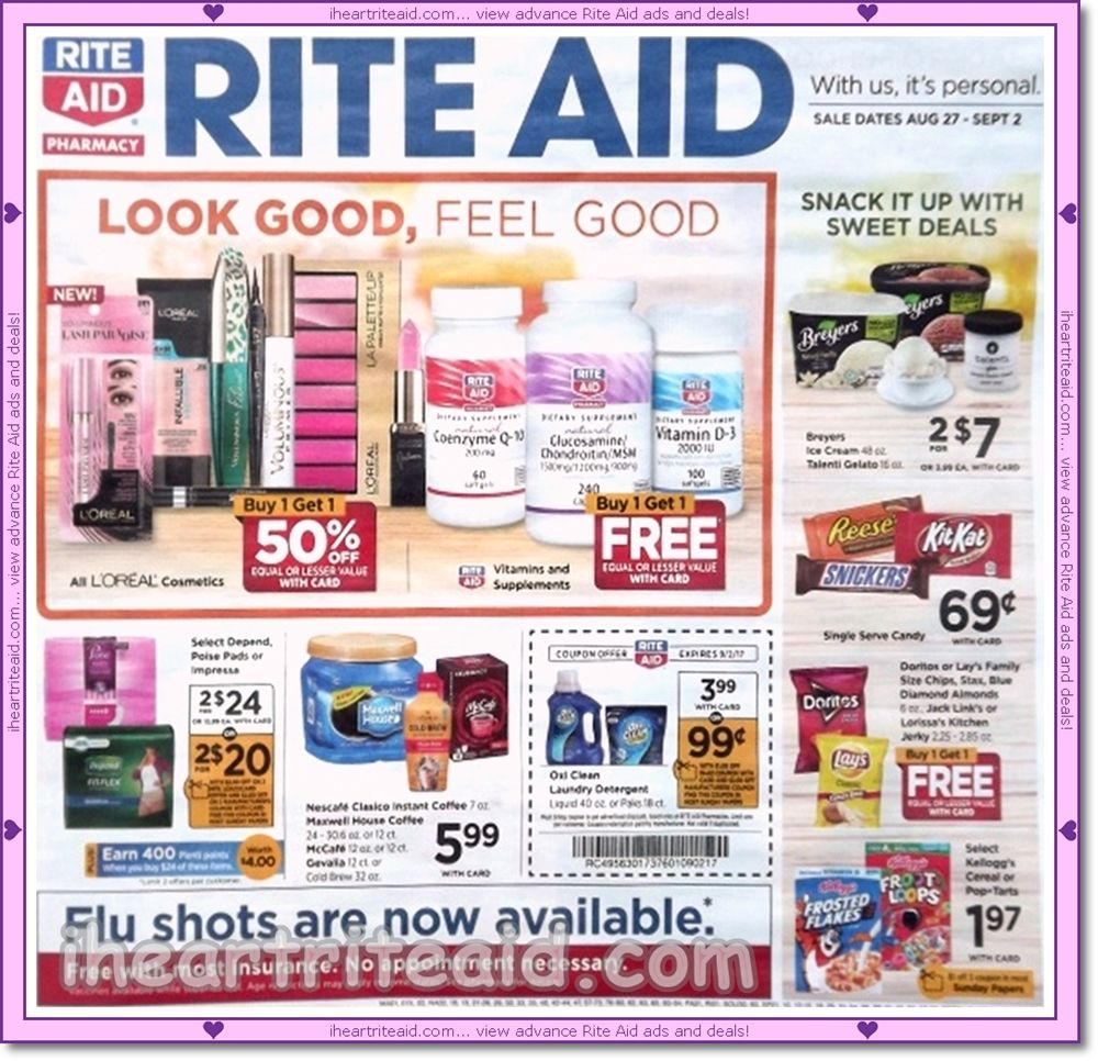Rite Aid Ad For 08 27 09 02 View It Here Http Www Iheartriteaid Com 2017 08 0827 0902 Html Riteaid Coupons Couponing Co Rite Aid Weekly Ads Ads