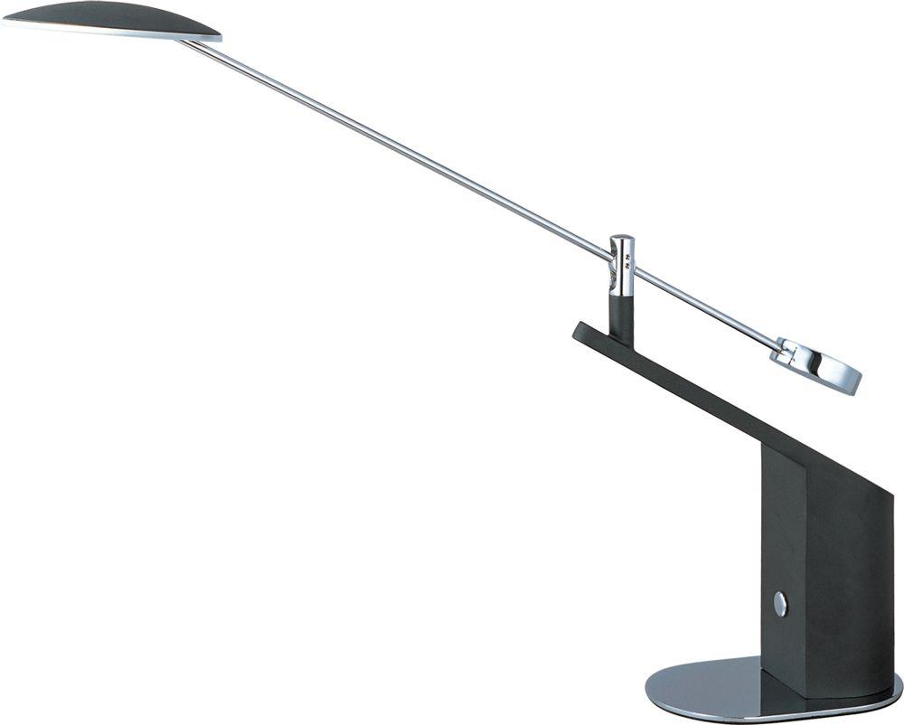 Eco Task Led Table Lamp Shown In Black And Polished Chrome By Et2 Lighting E41023 Bk Pc Lamp Et2 Modern Desk Lamp