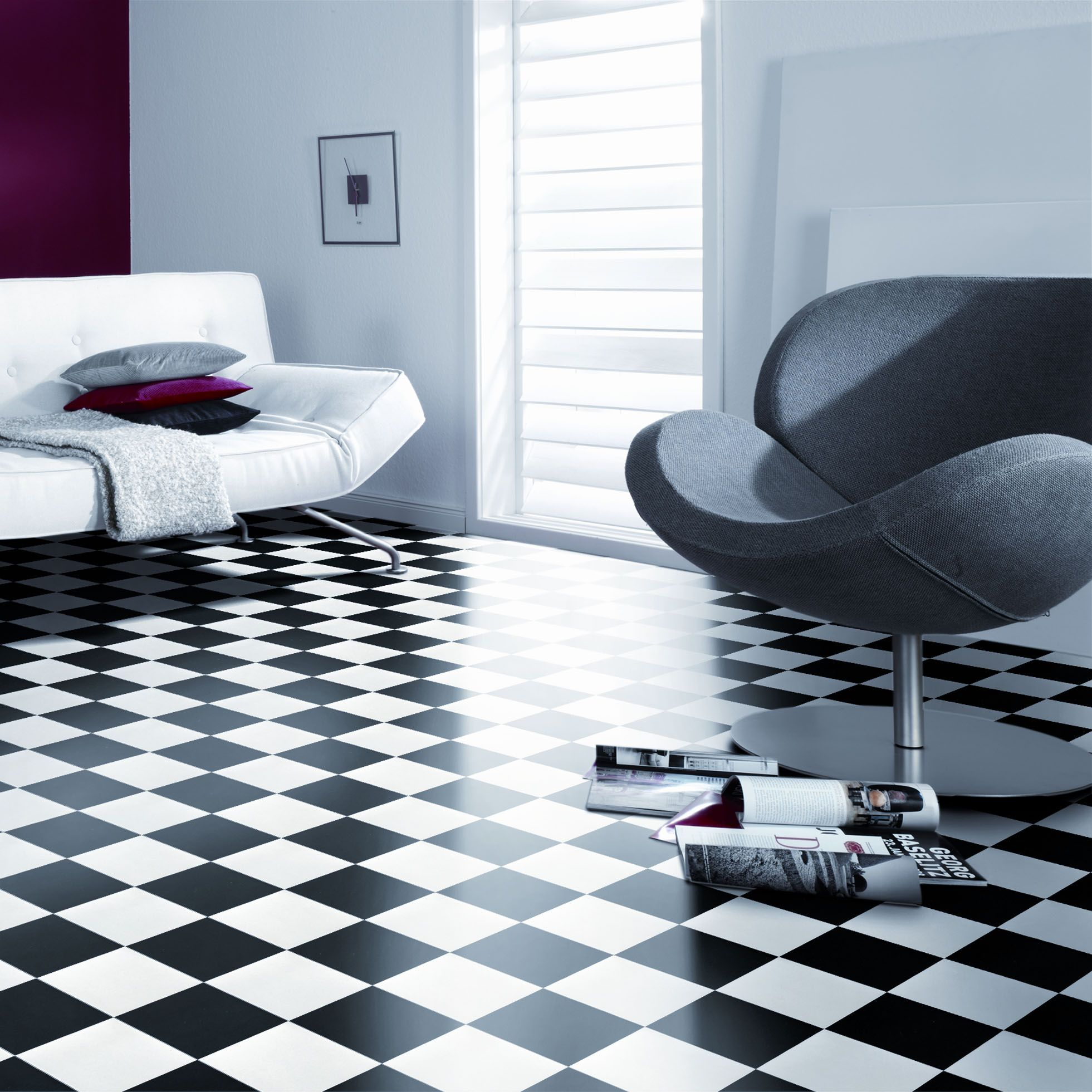 Texline Essence Damier Black and White gerflor design