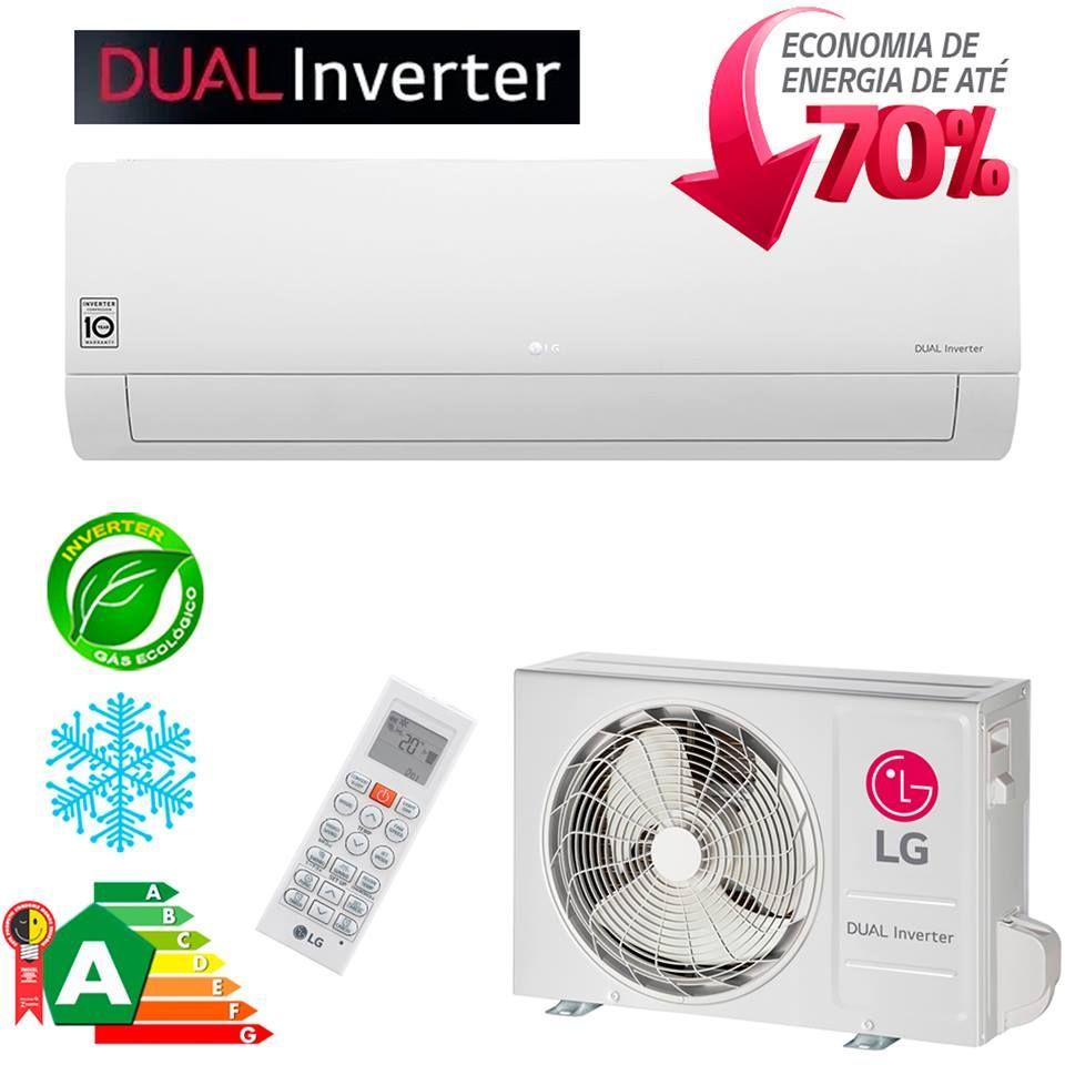 Ar Condicionado Split Inverter 9000 Btus Lg Dual Inverter Frio