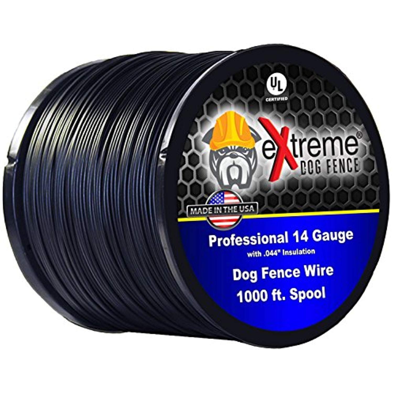 Dog Fence Wire Pure Copper 1000 Feet Of 14 Gauge 044 Professional Grade Electric Dog Fence Boundary Wire Solid Copper Core Wire Fence Pet Fence Dog Fence