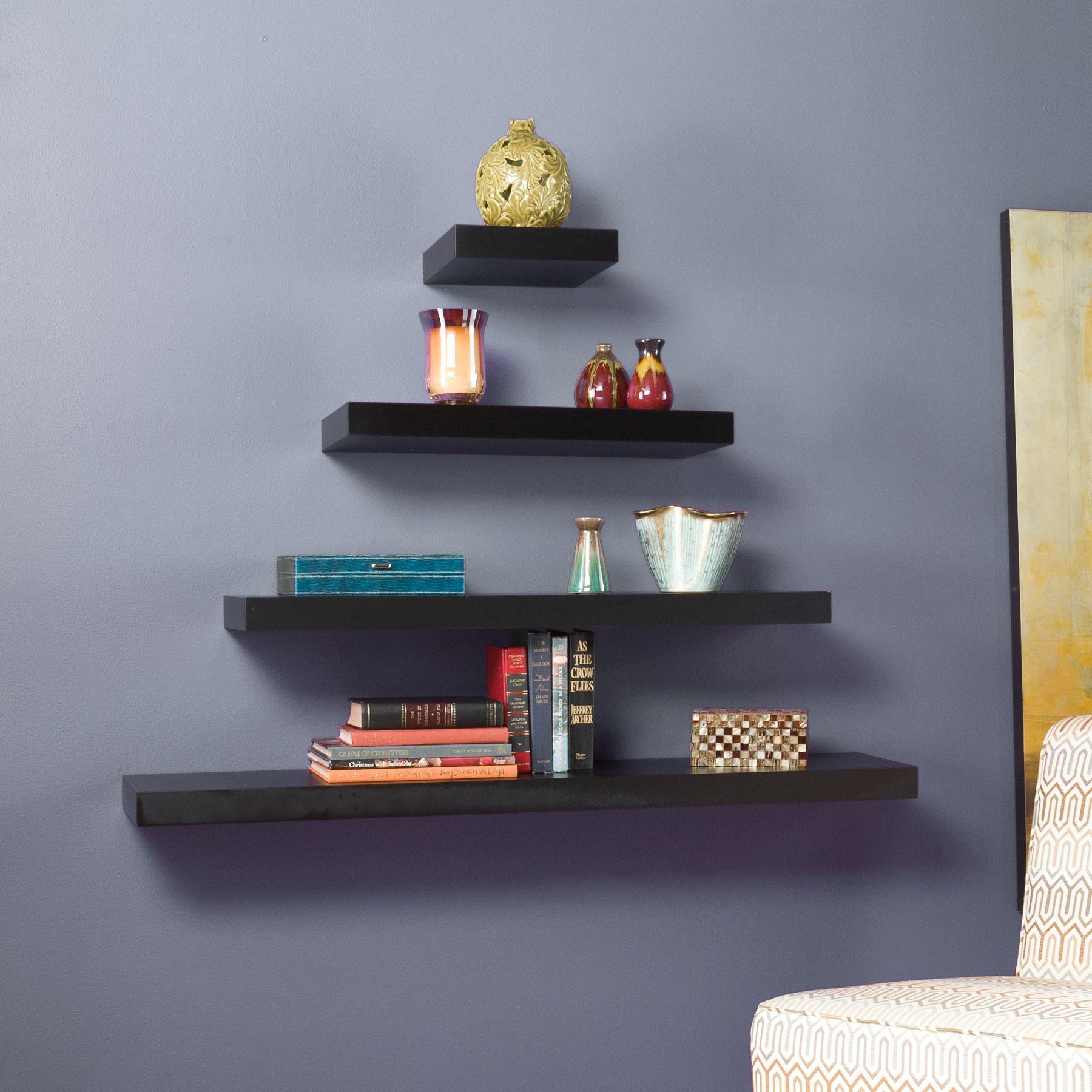Wildon Home ® Stella Floating Shelf in Black - Wayfair.com