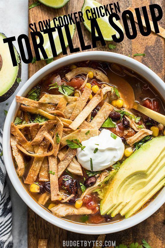 Slow Cooker Chicken Tortilla Soup Recipe - Budget Bytes