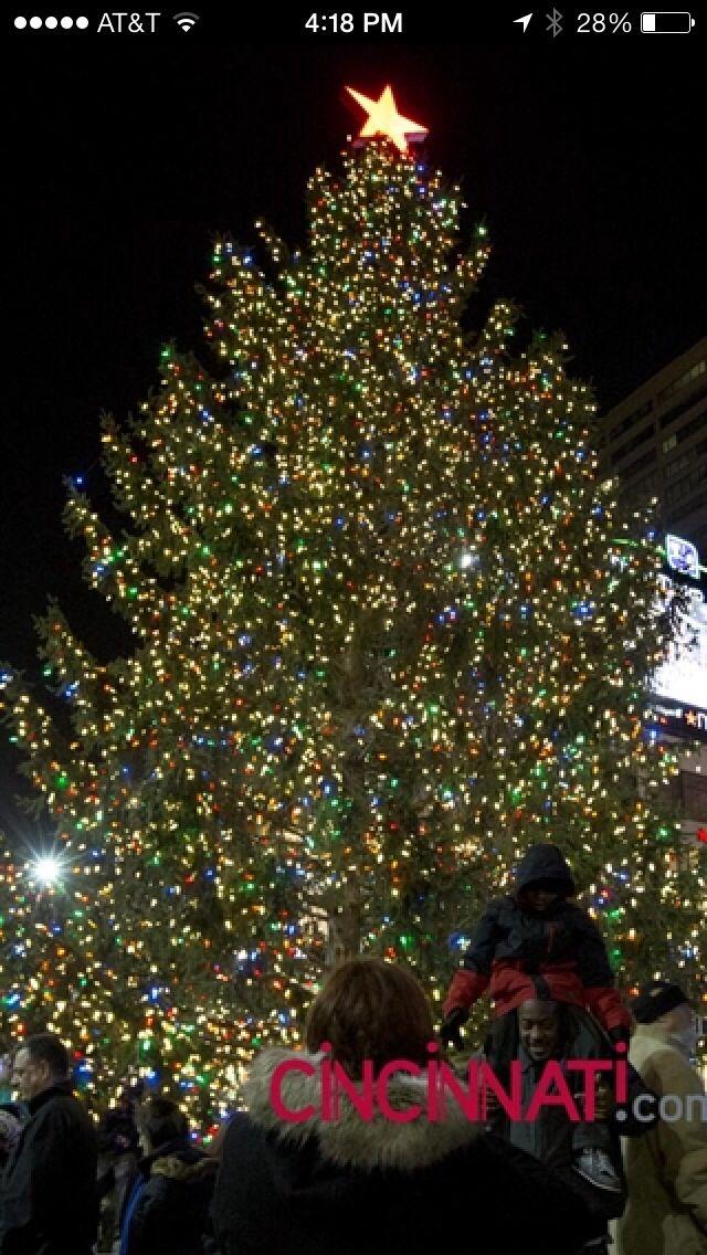 Lighting the Christmas Tree on Fountain Square in Cincinnati, OH - Lighting The Christmas Tree On Fountain Square In Cincinnati, OH