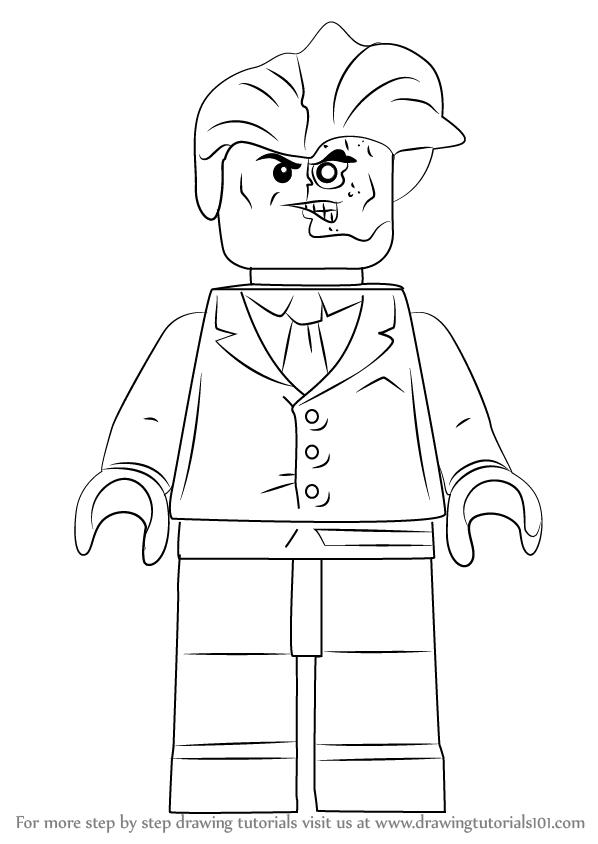 Drawingtutorials1 Lego Sie Twoface Zeichnen How To Draw Lego Two Face Drawingtutorials1 Wie Zeichne Lego Coloring Pages Lego Coloring Lego Art