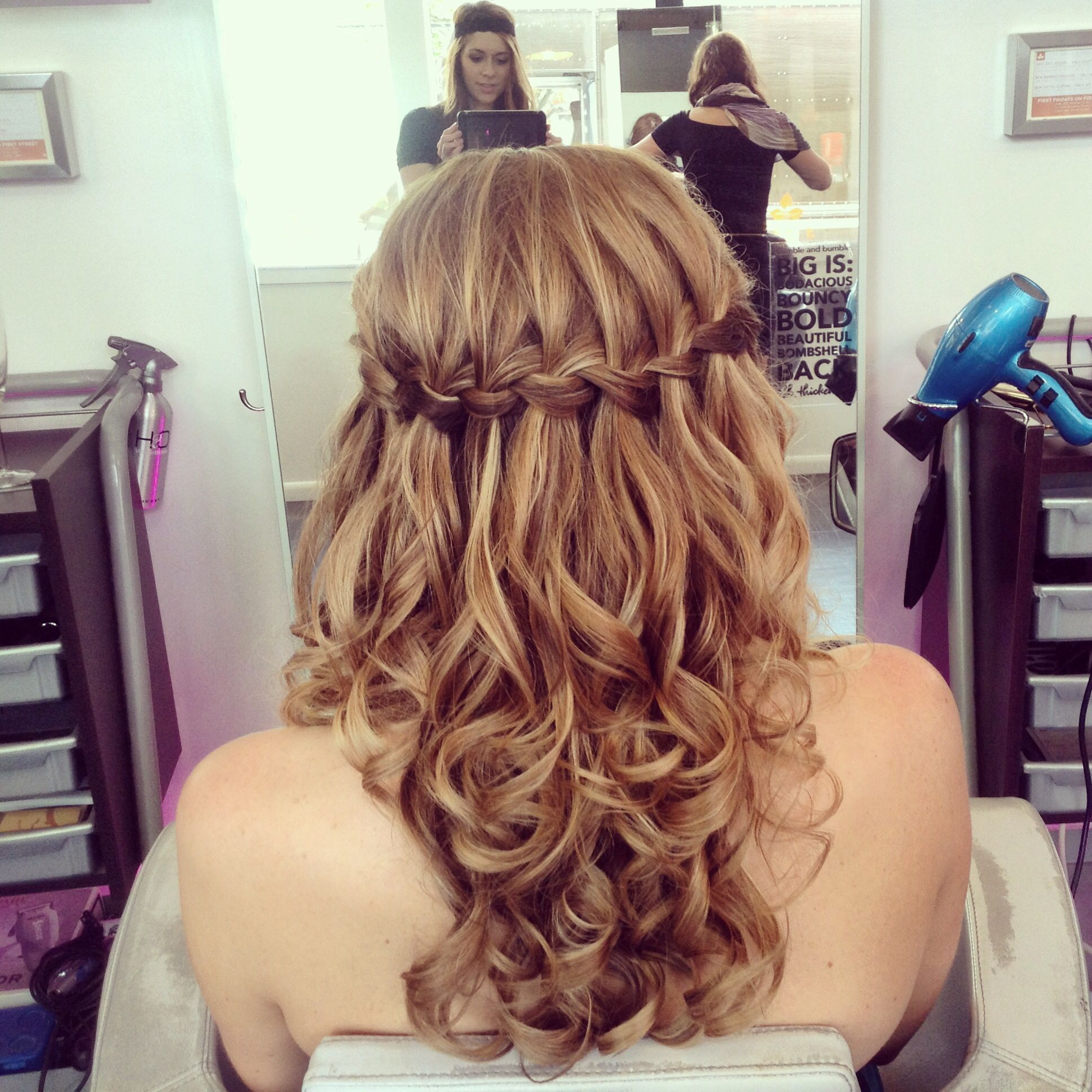 Waterfall braid. Bridal hair by Whitney Ray Lancaster, PA