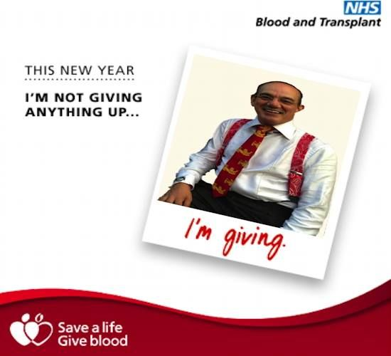 If you are not already giving please, please consider and register.  There is a shortage of donors and this impacts on emergency transfusions as well as major operations of patients plus increases waiting time for those waiting minor opps – please do this as your gift this year – Thank you!!  One day it could be you or I needing and suffering if there is a shortage!!