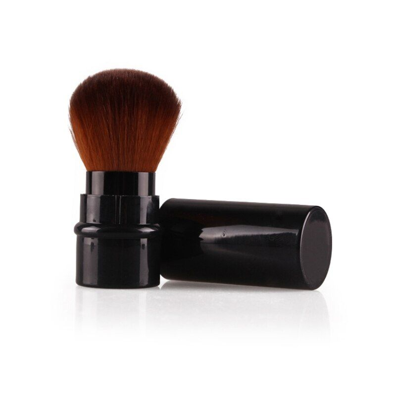 Retractable Pro Foundation Cosmetic Blusher – Black