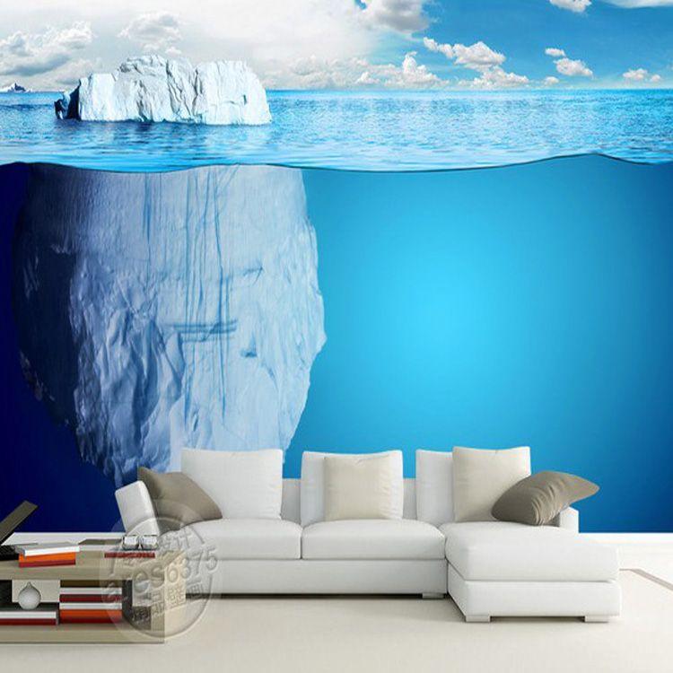 DIY Beautiful Bedroom Wallpaper Underwater World Floeberg Perspective  Murals Wallpaper