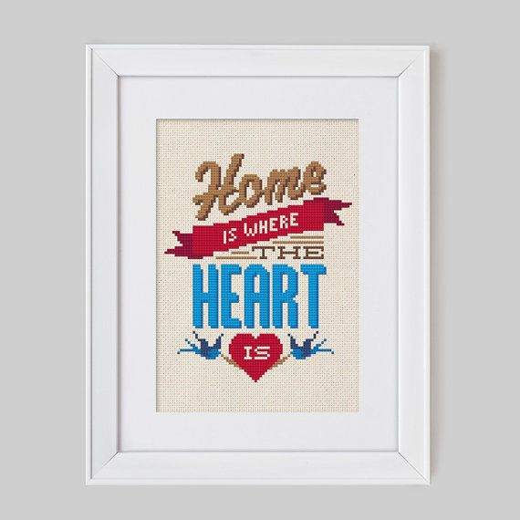 Home is where the heart is Cross Stitch Pattern by Stitchrovia 475