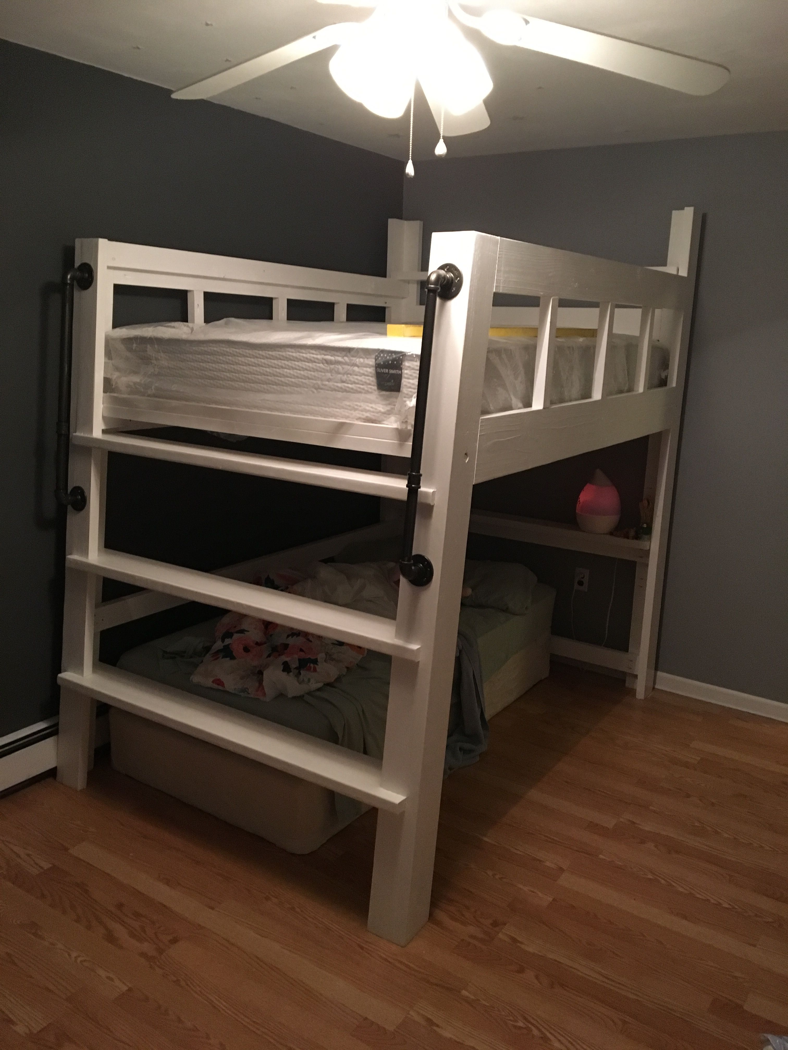 Bed Loft Diy Custom Full Size Loft Bed 2x4 And 2x6 Construction