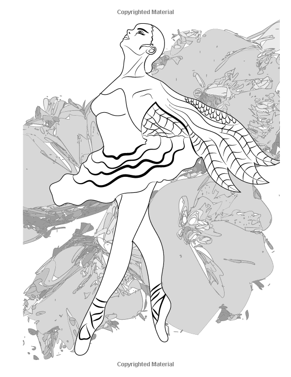 Ballerina Coloring Book Relaxing Pages For Adults And Kids The A To Z