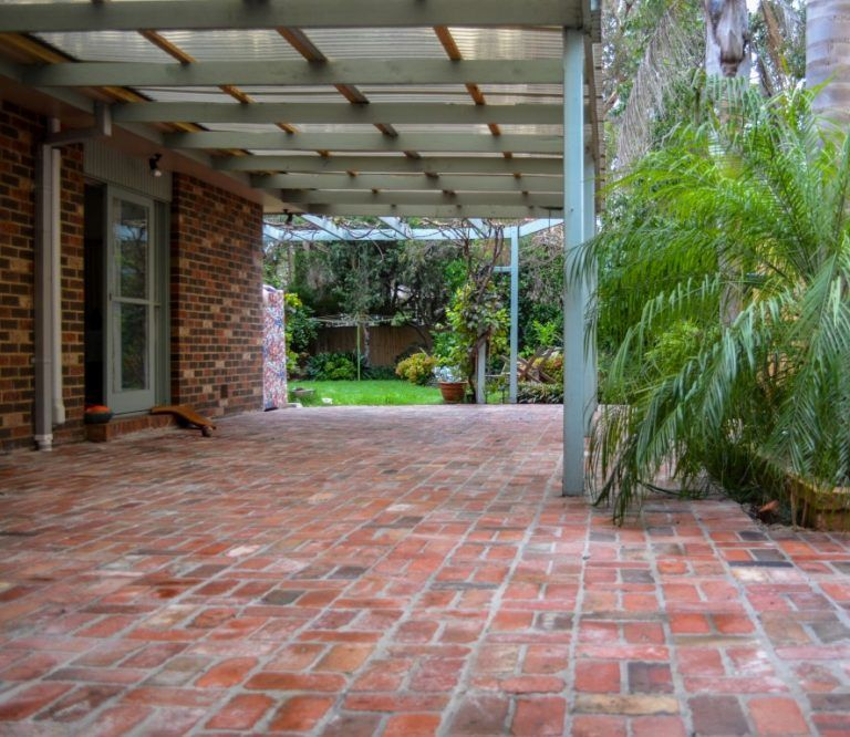 second hand red brick paving, Melbourne | Red brick paving ... on Red Paver Patio Ideas id=66443