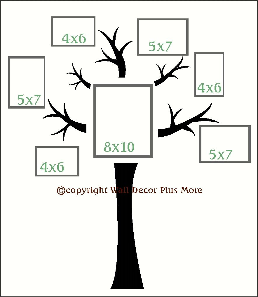 Tree Wall Decal With Branches Vinyl Stickers Popular Wall Art Decals For Photo Collage Family Tree Wall Sticker Family Tree Wall Decal Family Tree Wall