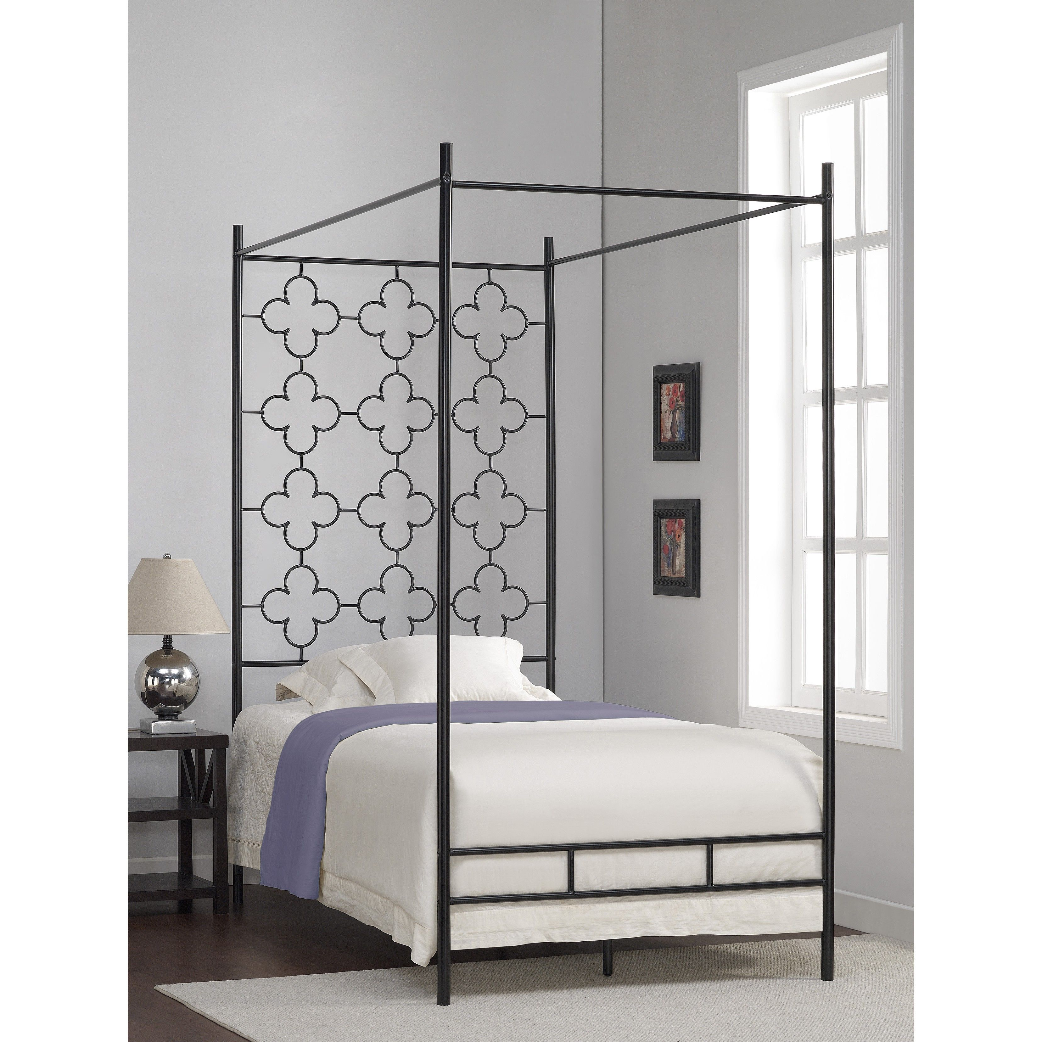 The Four Poster Bed in high gloss black head