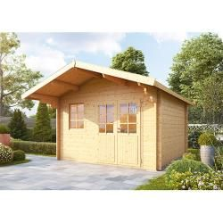 Photo of Wolff Finnhaus log house Lisa 44-A (4.4 x 4.22 m, wall thickness: 44 mm) Wolff Finnhaus
