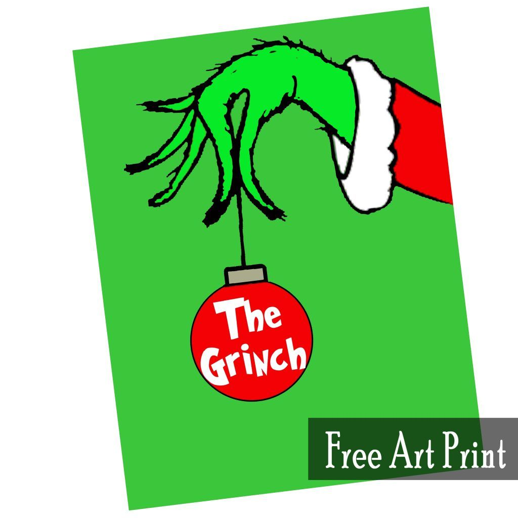 The Grinch Free Art Printable For Christmas Printables 4 Mom Printable Christmas Decorations Grinch Christmas Party Christmas Tags Printable