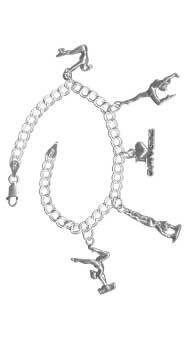 53bd0fcb8 Sterling Silver Gymnastics Charm Bracelet | gymnastics | Bracelets ...