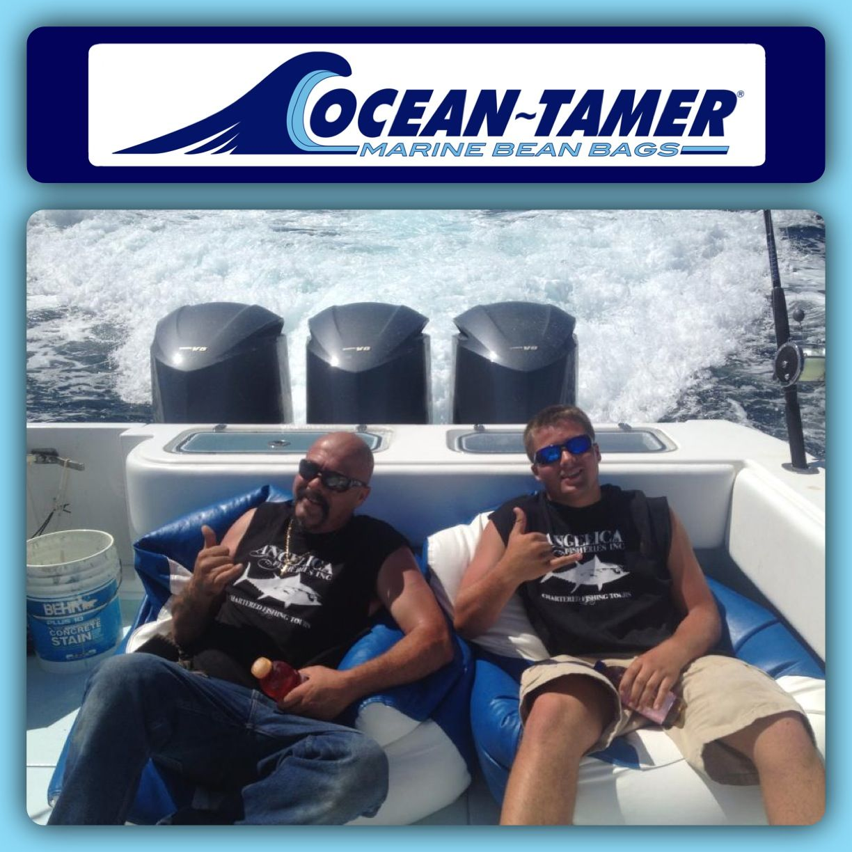 Marine Bean Bag Chairs Posture Pad For Chair Capt Dave Marciano And His Son Joe From F V Hard