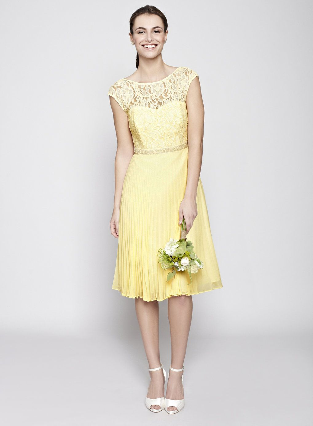 lemon wedding dress  google search  yellow bridesmaid