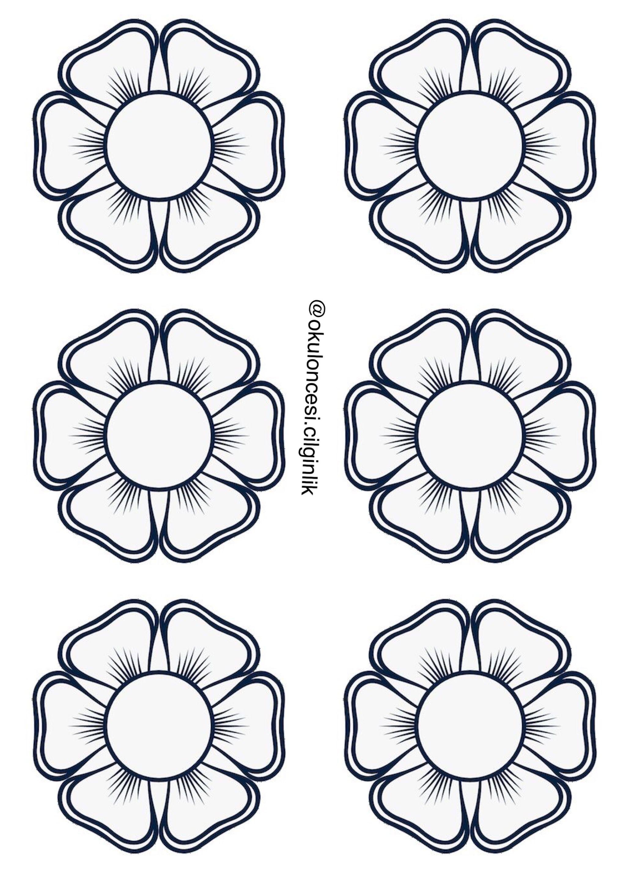 Basak Unluer Ozberk Adli Kullanicinin Florile Primăverii Panosundaki Pin Boyama Sayfalari Desenler Cicek
