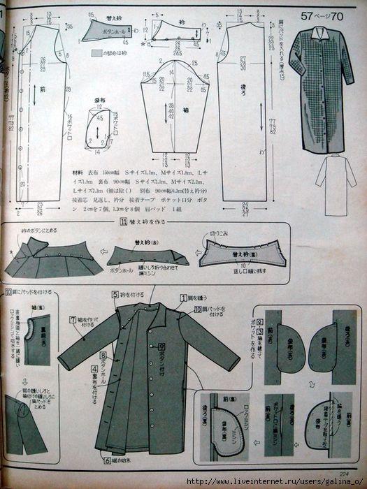 Pin de Ирина Киченко en интересное | Pinterest | Patrón de chaqueta ...