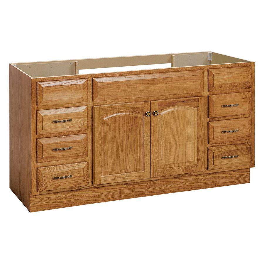 Project Source 60 In Golden Bathroom Vanity Cabinet Lowes Com Traditional Bathroom Traditional Bathroom Vanity Bathroom Vanity