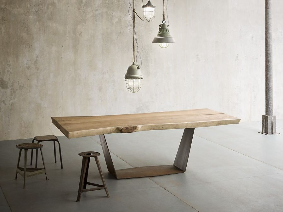 Table En Chene Ala By Elite To Be Table Ovale Table A Manger Industriel Table Salle A Manger