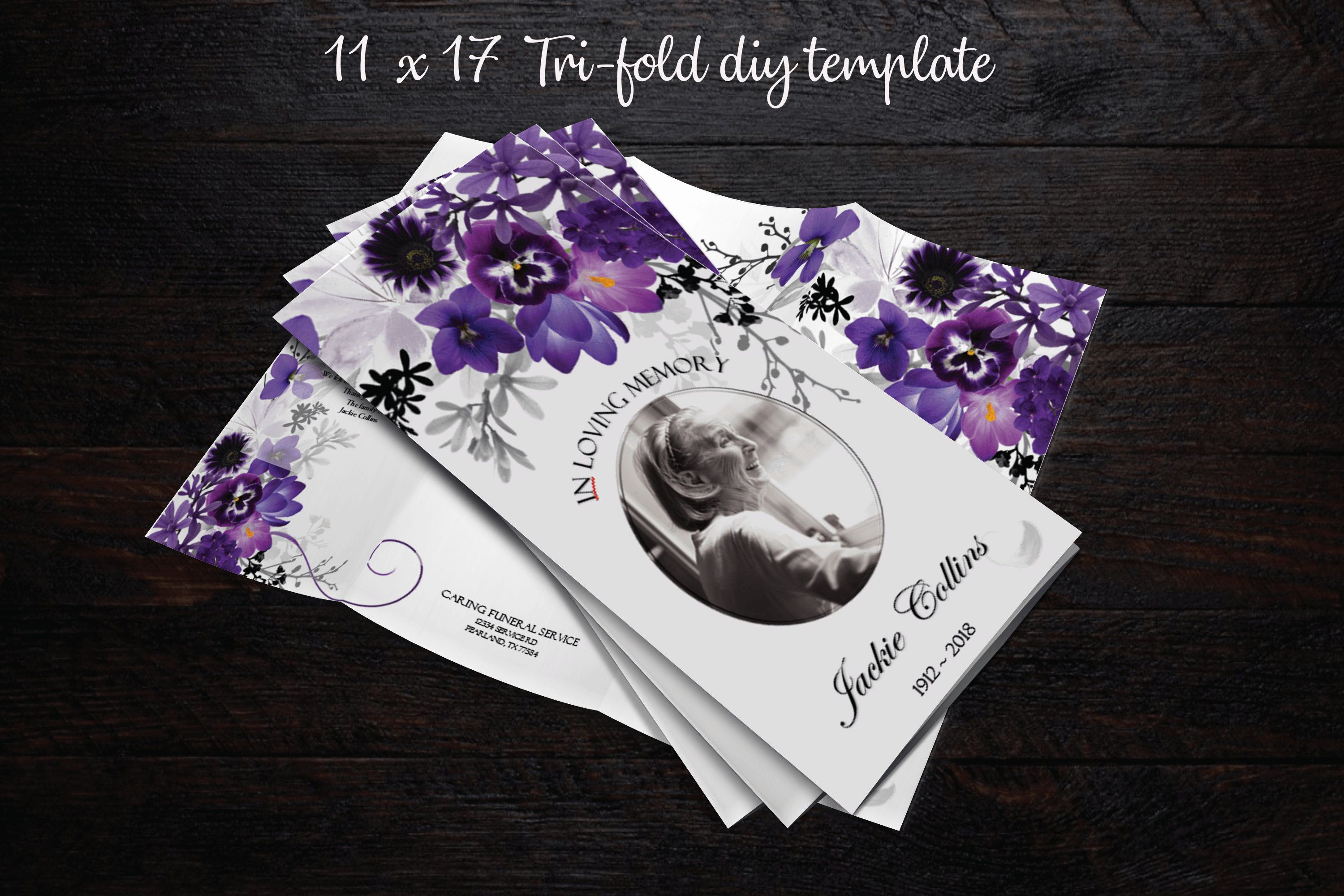 funeral memorial cards with photo