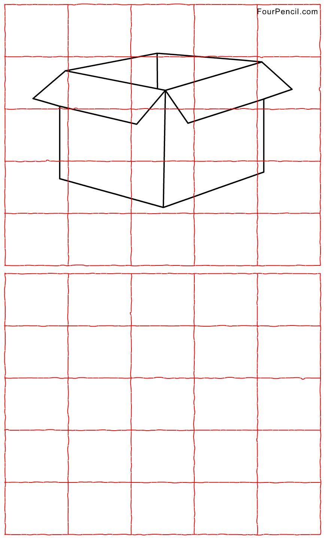 Grid Art Worksheets | Art Grid Drawing Worksheets - Drawing Sketch Picture