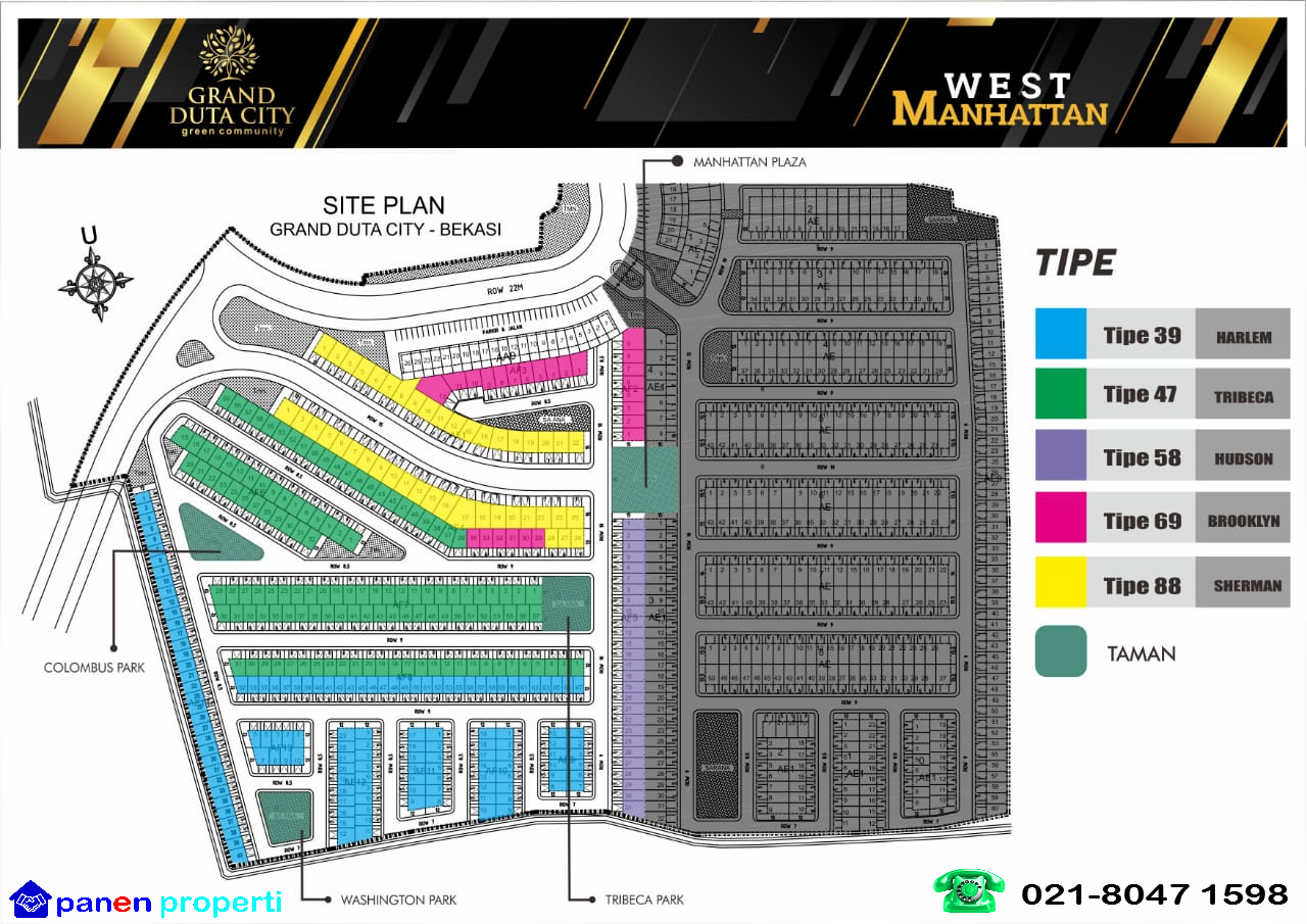 Site Plan Grand Duta City Kota Manhattan Periklanan