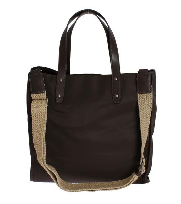 4bda257c960e Brown Nylon Leather Gym Travel Shoulder Bag