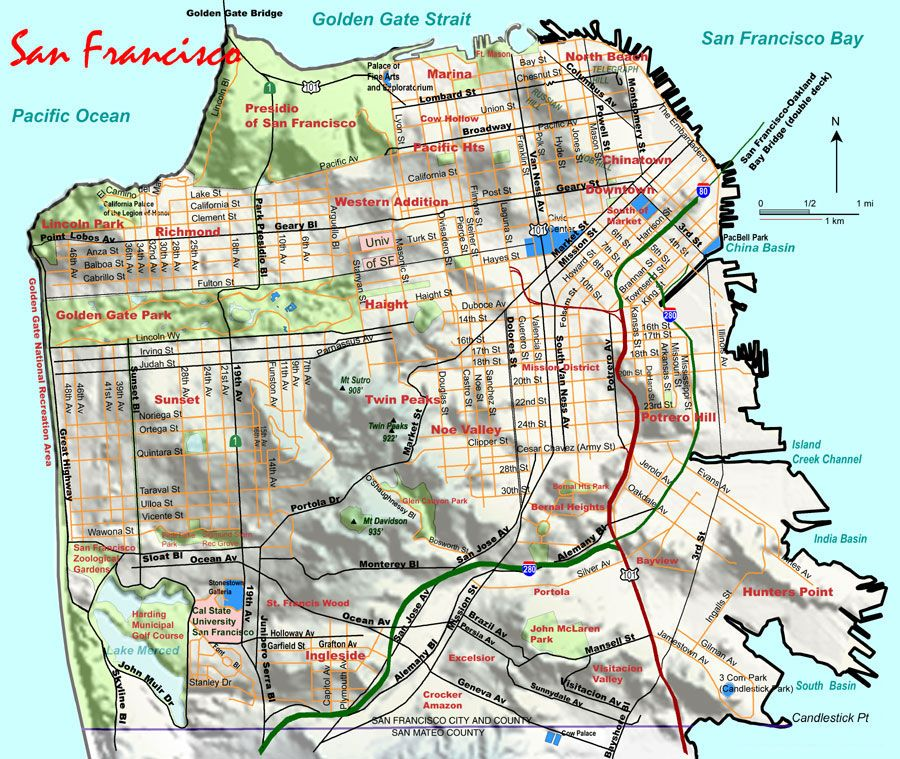Make A Physical Topo Map Of SF Out Of Injectionmolded Rubber - Elevation map of california