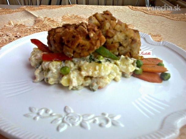 Vyprážané hrbaté morčacie rezne (fotorecept) - Recept