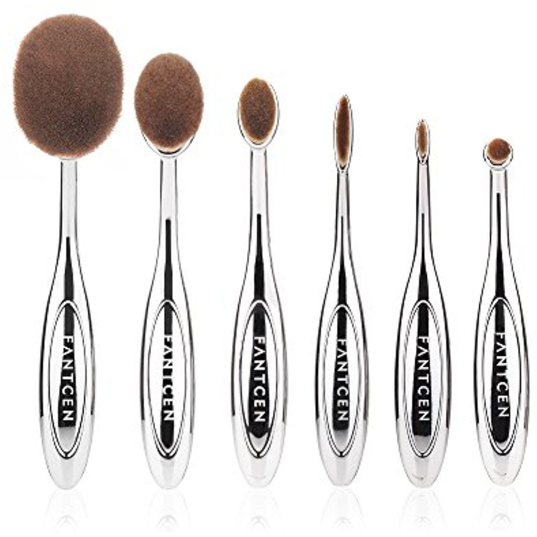 FANTCEN Foundation Oval Makeup Brush Set Powder Brush Set