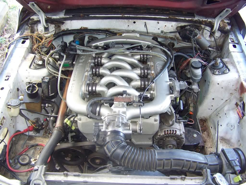 Ford Fox Body Mustang With Taurus Sho Engine Swap