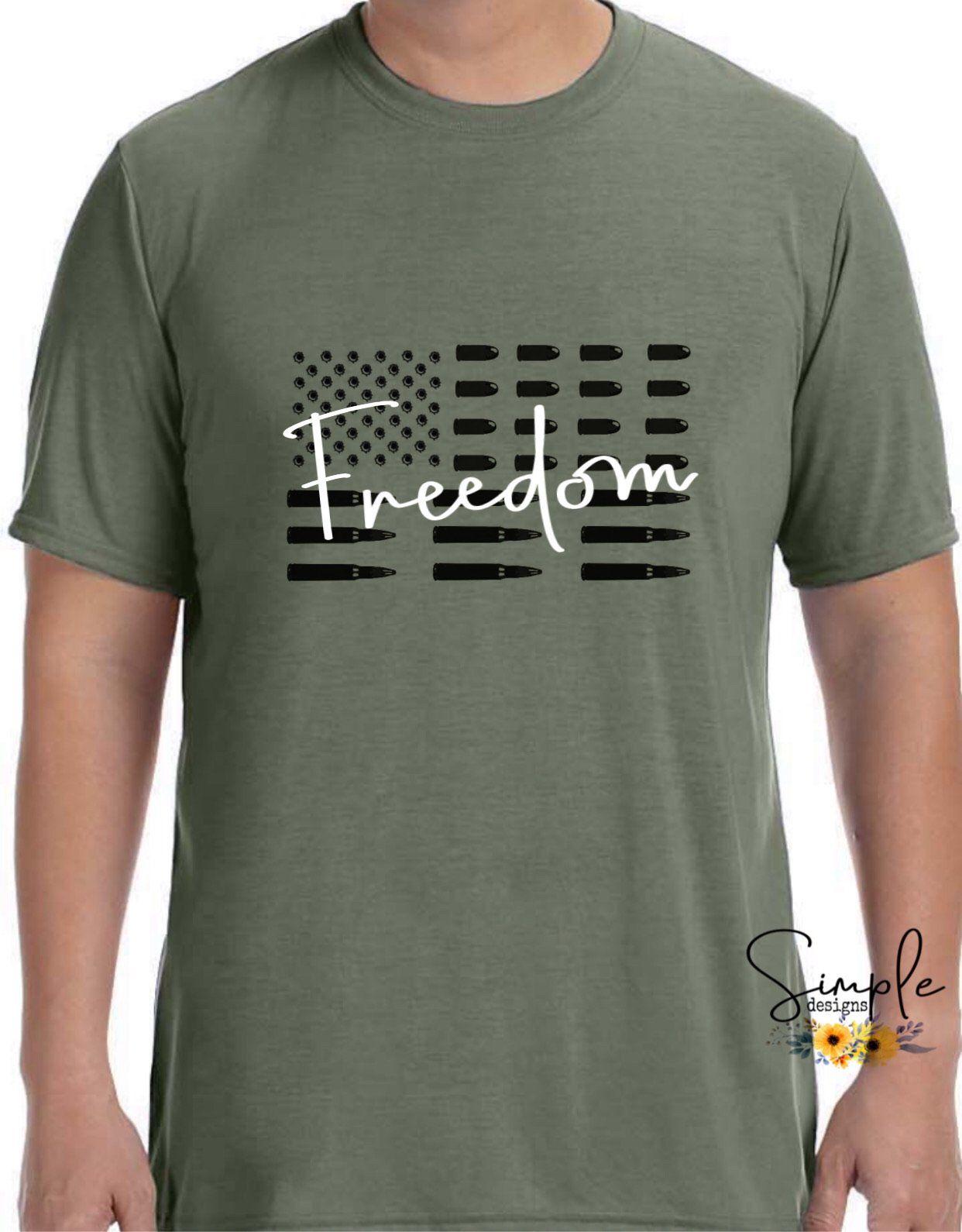 Freedom Tshirt Funny Tee, Custom Shirt - M / White