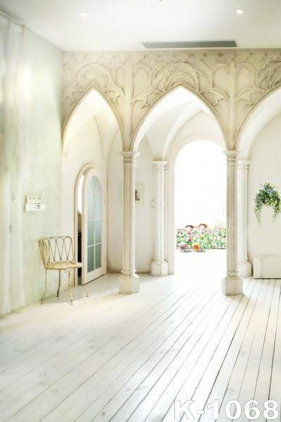 White Room With High Arch Alcoves 5x7ft 150x200cm Vinyl Photo