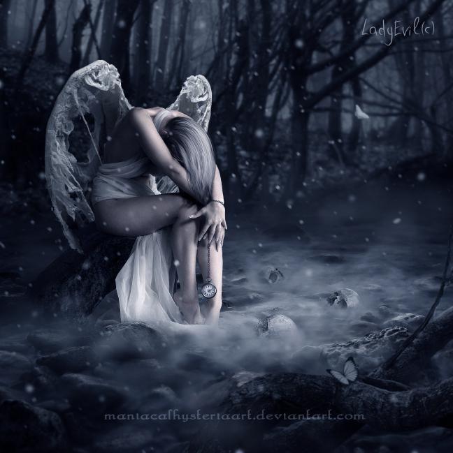 """""""Angel de amor""""     Quién te cortó las alas mi ángel,    quién te arrancó los sueños hoy,      quién te arrodilló para humillarte  ..."""