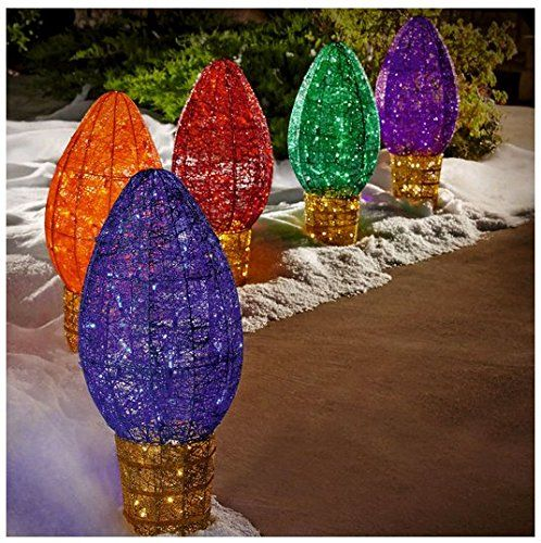 Lights Large Exterior Christmas Bulb