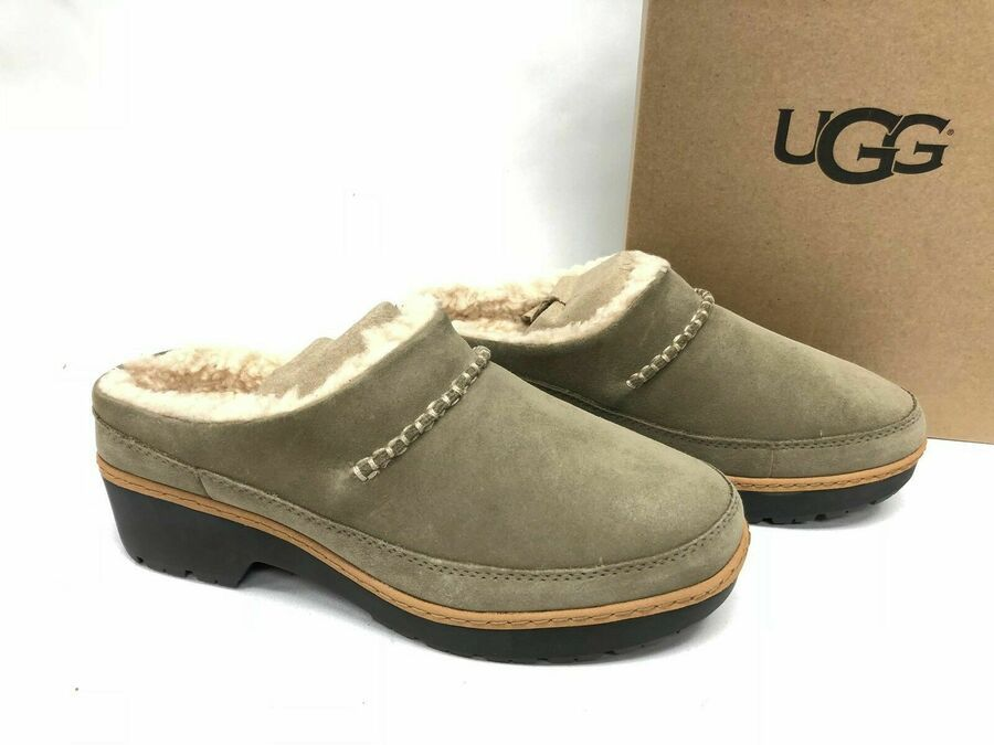 12dfcac1d21 UGG Australia Lynwood Clog 1098749 Chestnut Black Antilope Shoes ...